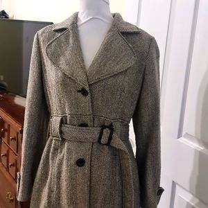 ✅FREE✅Womens Long Winter Warm Button/Belted Jacket Large